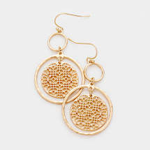 In-Circle Filigree Earrings: Gold or Silver