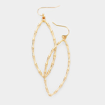 Bamboo Marquise Earrings: Gold Or Silver