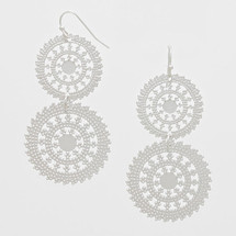 Double Wheel Drop Earrings: Gold Or Silver