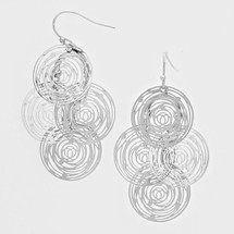 Swirl Cluster Earrings: Gold Or Silver