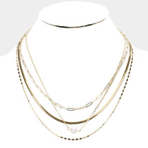 Perfect Layers Gold + Pearl Necklace