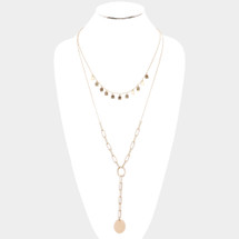 Oval Pendant Chain Drop Necklace