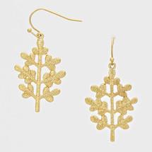 Gold Textured Flower Earrings