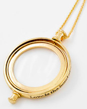 All My Love Long Necklace W/ Magnifying Glass (Spinner)