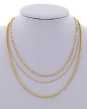 Golden Goodness Layered Necklace