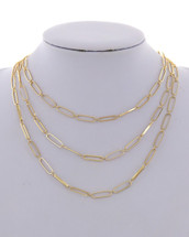 Triple Golden Layers Necklace