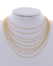 Gold Multi-Layered Necklace