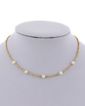 Delicate Pearl Beaded Necklace