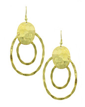 Hammered Two Circle Earrings