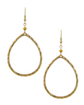 Hammered Teardrop Hoops