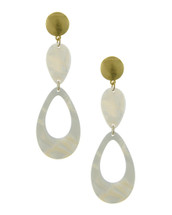 Ivory + Gold Earrings