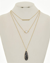 Cleo Layered Necklace: Semi-Precious Stone