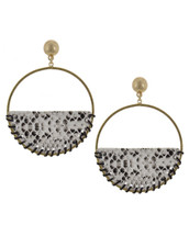 Snakeskin Circle Earrings