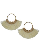 Ivory Fan Earrings