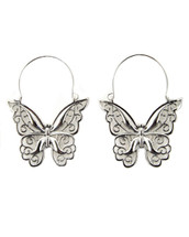 Cut Out Butterfly Hoops