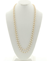 Ivory Beaded Long Necklace