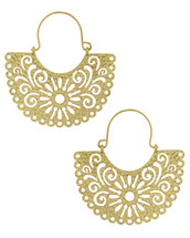 Hammered Cut Out Hoops: Gold Or Silver
