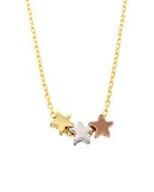 Triple Stars Tri-Color Necklace
