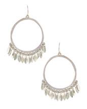 Silver Hoop Dangle Earring