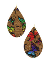 Painted Butterfly Teardrop Earrings