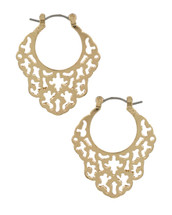 Filigree Wavy Cut out Hoops: Gold Or Silver