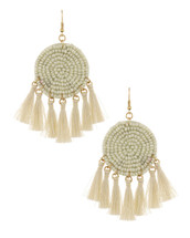 Ivory Dreamcatcher Earrings