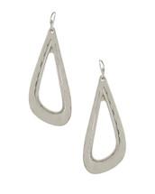 Oblong Hoop Earrings: Gold Or Silver