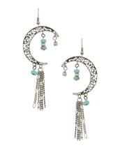 Crescent Moon Bead Earrings