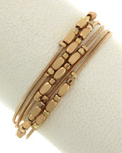 Magnetic Clasp gold Layered Bracelet