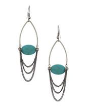 Turquoise Chain Drop Earrings