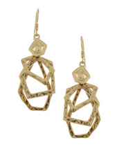 Hammered Shapes Drop Earrings