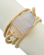 Semi Precious Desert Stone Wrap Bracelet/Necklace