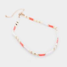 Blushed Beaded Choker Necklace