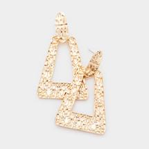 Textured Doorknocker Earrings: Gold Or Silver