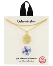 Gold Dipped Determination Necklace: Gold OR Silver