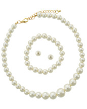 Classic Pearl Necklace/Bracelet/Earring Set