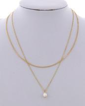 Grace Delicate Pearl Drop Necklace