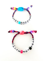 Just Breathe + Faith Not Fear Bracelet Set