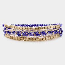 Blue + Gold Bracelet Stack