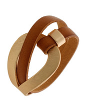 Carmel Leather Wrap Bracelet