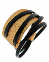 Hammered Leather Wrap Bracelet