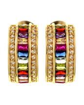 Rainbow Hoop Earrings: Gold Or Silver
