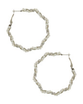 Twisted Wire Pearl Hoops: Gold Or Silver
