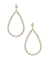 Jeweled Teardrop Hoops