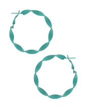Twisted Turquoise Hoops