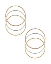 Tri-Color Hoop Earring Set
