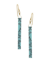 Turquoise Rectangle Drop Earrings