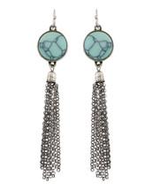 Blue Skies Tassel Earrings