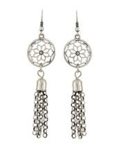 Filigree Flower Tassel Earrings