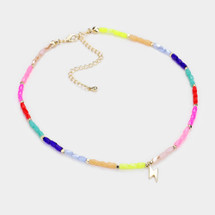 Colorful Delicate Beaded Bolt Necklace